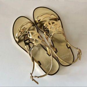 Stuart Weitzman Gelfisher Sandals - Gold